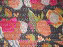 Multi Color Cotton Printed Kantha Quilt