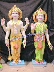 Marble God Statue Vishnu Laxmi