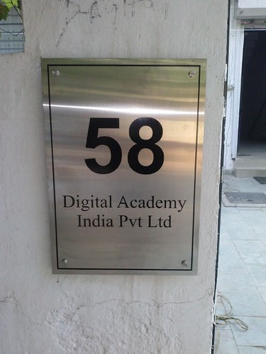 Office Address Name Plate, SS Nameplate - VS Advertisers, Gurgaon ...