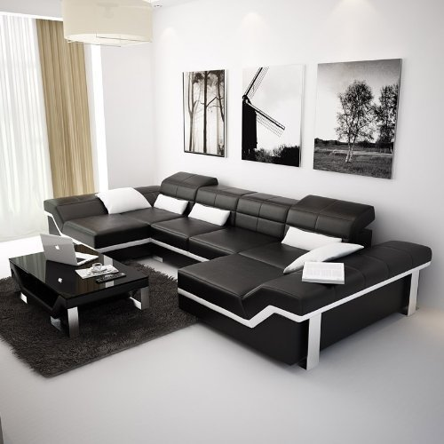 Italian Leather Furniture Nyc: Black Italian Leather Sofa Manufacturer From Jaipur