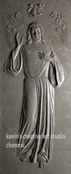 Jesus Relief Sculpture
