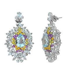 Multi Semi Diamond Earring