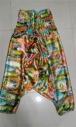 Lycra Cotton Printed Harem Pants, Size: S, M & L