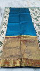 Stone Work Pattu Pavadai