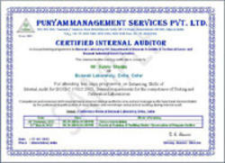 ISO IEC 17025 Accreditation Certificate