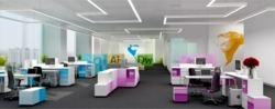 Wooden White Office Interior Design
