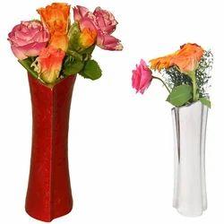 Nickel Plated Flower Vase
