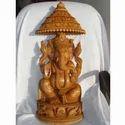 Wooden Fine Carving Ganesha