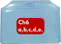 LC Plastic ID Card Holder CH 6