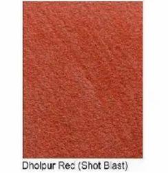 Dholpur Red Sandstone Shot Blast