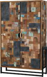 Reclaimed Wood Mosaic Almirah