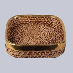 Wicker Woven Square Tray