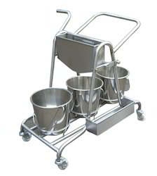 Stainless Steel Mopping Trolleys
