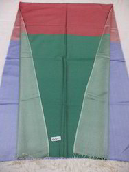 Pure Silk Twill Weave 3 Color Woven Reversible Shawls