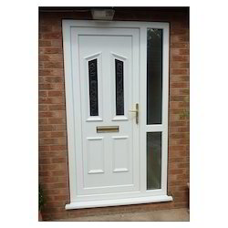 Clear And Toughened Glass Upvc Door