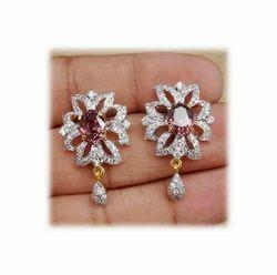 Silver Fancy Earring