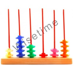 Wisetime Place Value 3 Spikes Abacus