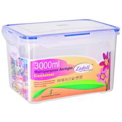 3000 ml Plastic Locked Airtight Rectangular Container