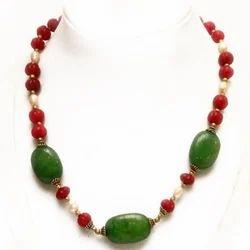 Green Stone Matar Mala