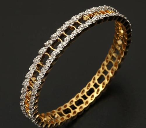 e4baca611decf1 Traditional Diamond Bangles Designs at Rs 225000 /piece(s) | Diamond ...
