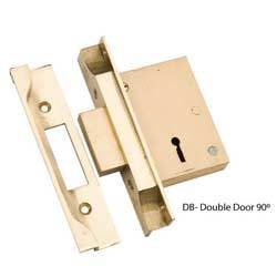 Double Door Brass Lock