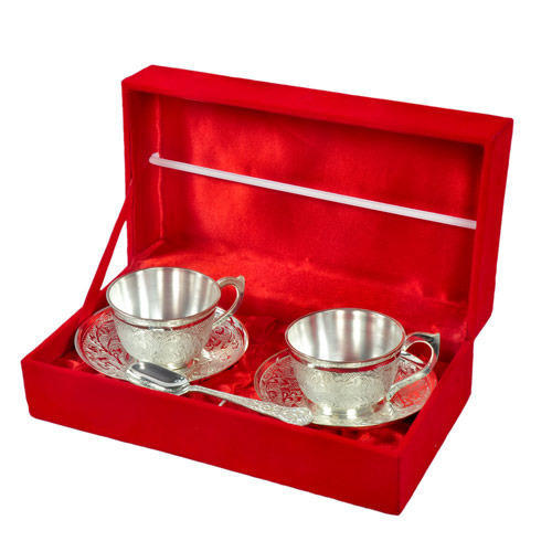 Send Wedding Gifts Online India: Brass Jaipur Ace Wedding Gifts Silver Cup Set, Rs 700 /set