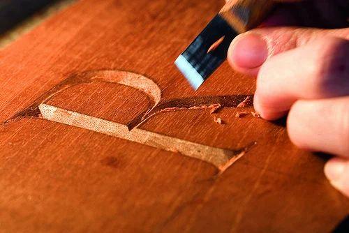letter carving work
