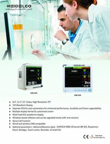 Patient Monitor, ICU Monitor, Pulse Oximetres - Heidelco