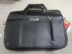 Black Plain Foam Lather Office Bag