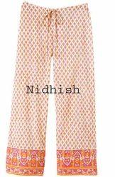 Handblock Printed Drawstring Pants