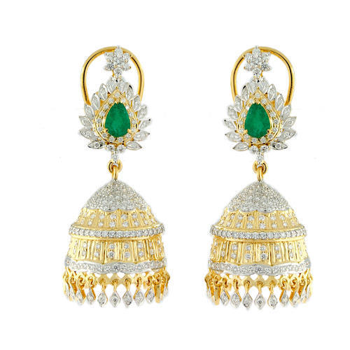 e075d977b1d0 18k diamond gold bridal Jhumka - 18KT Gold Diamond Bridal Jhumka ...