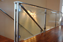 Industrial S.S. Glass Commercial Railing