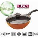 Alda Diecast Ceramic Coated WOK Pan With Lid 26cm