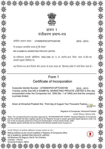 Certificate - Certificate Of National Securities Service Provider ...