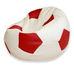Leatherette Round Football Bean Bag