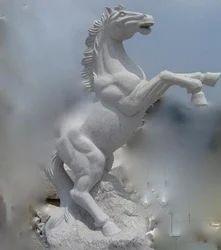 Horse Stone Statues