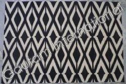 Black,White Flat Weave Cotton Rugs, Size: 2x3 To 9x12 Feet