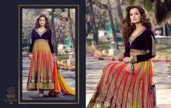Chiffon Semi-Stitched Designer Indian Suits