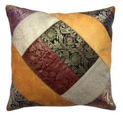 Zari Work Cushion Cover
