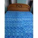 Blue Color Theme Ikat Kantha Quilt