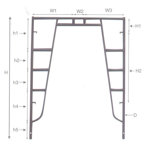 Walk Thru Frame - View Specifications & Details of Scaffolding Frame ...