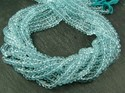 Sky Blue Topaz Faceted Rondelle Beads