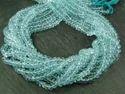 Nanplanetsilver Sky Blue Topaz Faceted Rondelle Beads