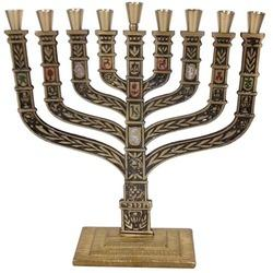 Copper Plated Menorah