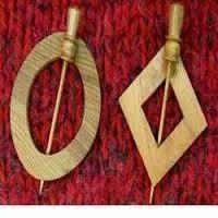 Surina Wood Shawl Pins