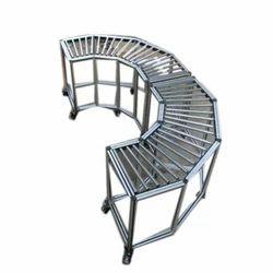 180 Degree Aluminum Gravity Roller Conveyor