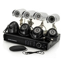 8 Channel DVR System Kit with 700 TVL 8 CCTV Cameras