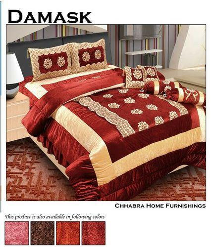 Damask Comforter Wedding Bedding Set