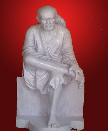 15 Inch Marble Sai Baba Statue