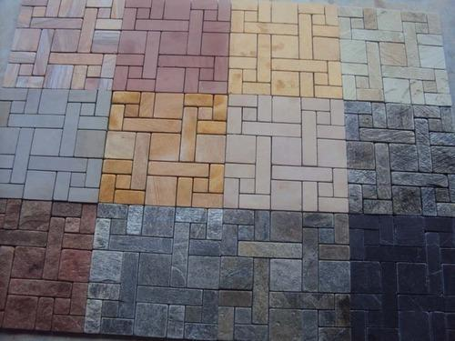 Stone Mosaic Tiles   Home Decoration Tumbled White Yellow Stone Mosaic  Manufacturer From Jaipur